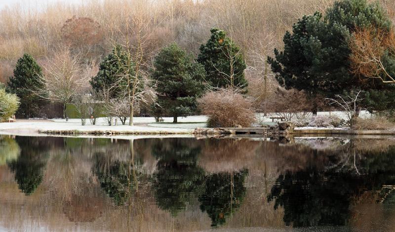 Winter in den Gärten der Welt